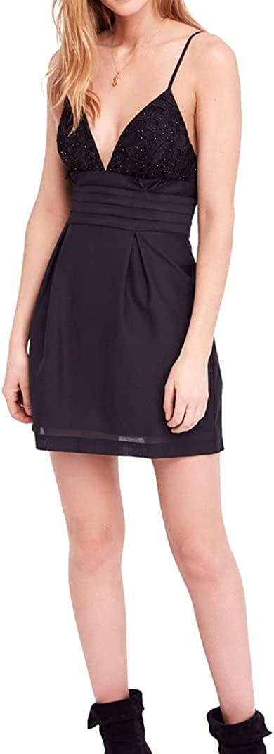Free People Womens We Go Together Bodycon Fit & Flare Mini Dress