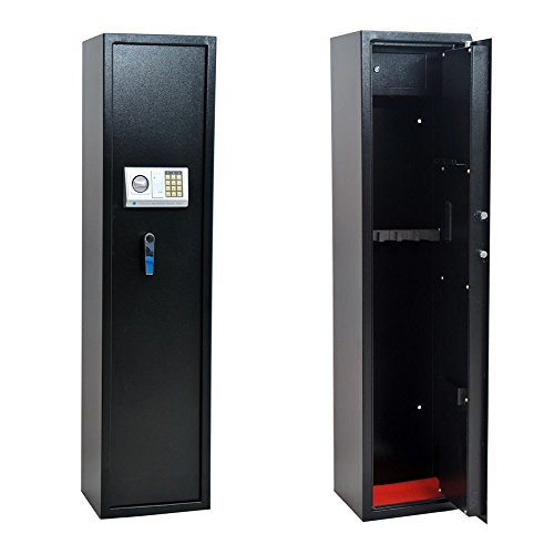 Homegear Large 5 Rifle Electronic Gun Safe for Firearms with Internal Jewelry/Valuables Lockbox