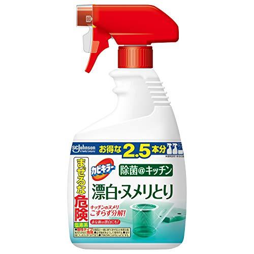 【大容量】 カビキラー 台所用漂白剤 除菌@キッチン 漂白・ヌメリとり 泡スプレー 特大サイズ 本体 1000g