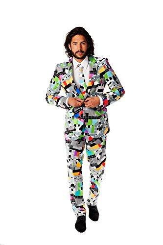 Opposuits OSUI-0010-EU58 - Testival - Testbild Kostüm, TV Anzug, Größe 58, mehrfarbig by Opposuits