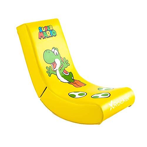 XRocker - Silla Gaming Amarilla Super Mario All-Star Con Personaje Yoshi (Nintendo...