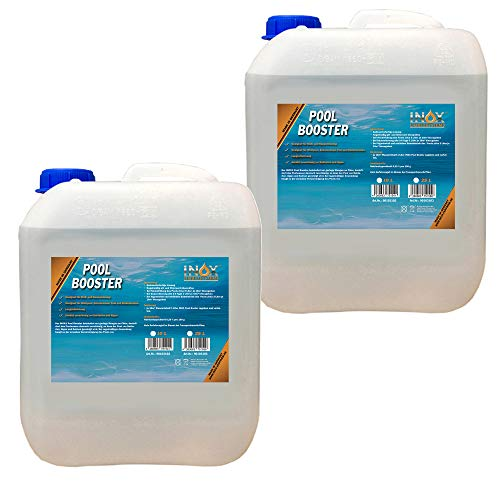 INOX® Pool Booster, 2 x 10L - Poolreiniger Algenentferner Pooldesinfektion