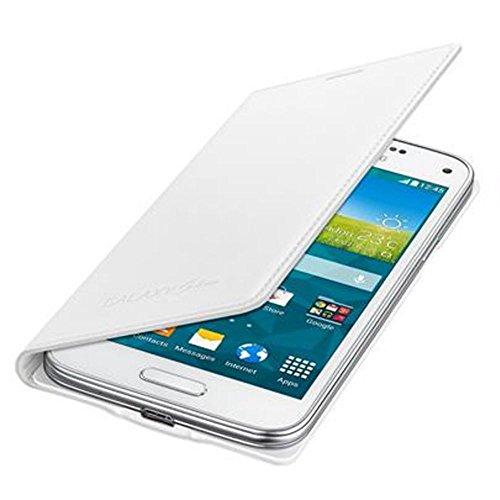 Samsung BT-EFFG800BW - Funda tipo flip para Samsung G800F Galaxy S5 mini, color Blanco