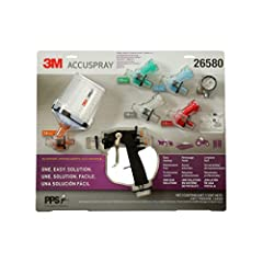 ONE GUN FOR ALL PAINT SPRAY NEEDS – 3M Accuspray handheld HVLP paint gun works with PPS 2. 0 disposable lids, liners and nozzles to measure, mix, filter and spray a variety of paint materials ALL-INCLUSIVE PAINT SPRAY KIT – Includes 1 AccuPark spray ...