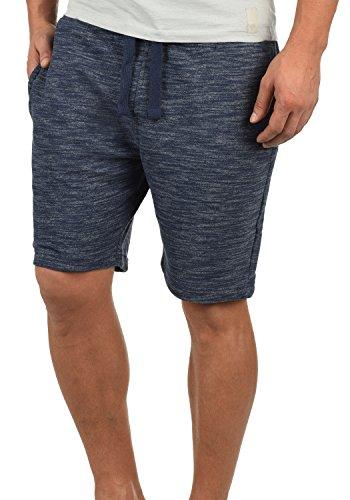 Blend Jovel Herren Sweatshorts Kurze Hose Sport-Hose aus hochwertiger Baumwollmischung Regular Fit Meliert, Größe:M, Farbe:Dark Navy Blue (74645)