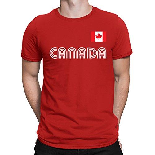 SpiritForged Apparel Canada Soccer Jersey Men's T-Shirt, Red XL
