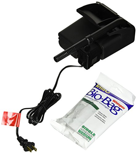 Tetra Whisper Power Filter 10 Gallons, Quiet 3-Stage aquarium Filtration (26316)