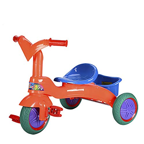 SHARESUN Kids driewieler, kinderfiets met opbergmand, babypedaalfiets, voor leeftijd 3 4 5 jaar oud 3-wieler