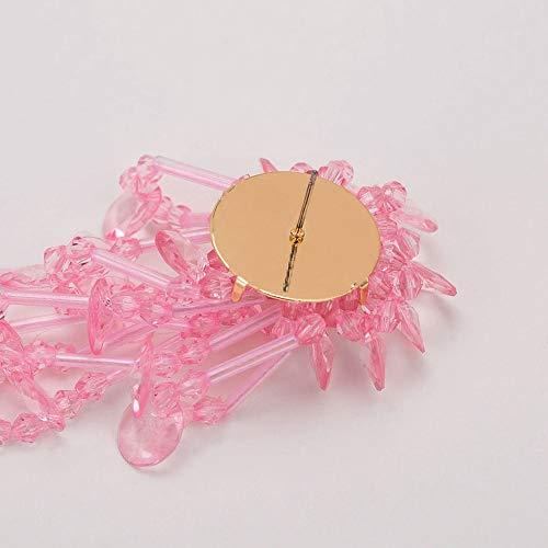 LASTARTS Boucles doreilles glands perlés à la main boucles d'oreilles bohème goujons pour femmes boucles d'oreilles pas cher (Couleur : Rose)