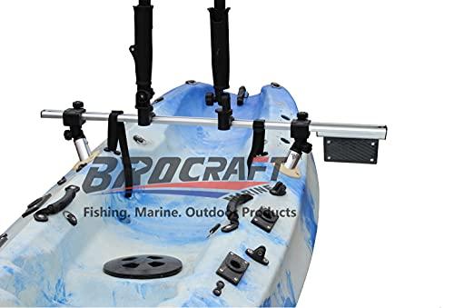 Brocraft Fishing Kayak Trolling Motor Mount Universal + Two Rocket Launching Rod...