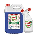 PAXCHEM PowerPax Disinfectant Toilet Cleaner (Rose) with Refillable and Reusable Bottle, 5 L