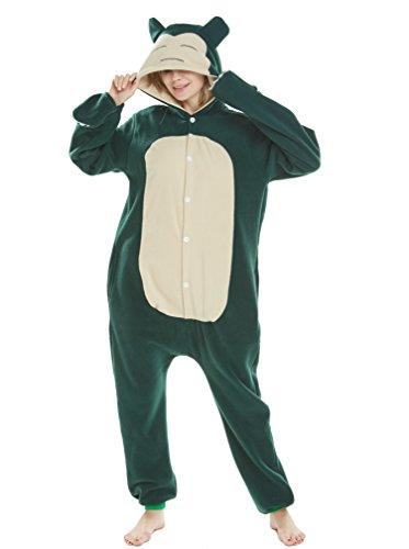 Animal Cosplay Disfraces Onesies Pijama Halloween Fiesta Unisex-Adulto Ropa de Dormir Kigurumi Mascarada Snorlax XL