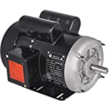 Mophorn 1.5HP Compressor Electric Motor, 3450rpm Reversible Single Phase 56 Frame Air Compressor Motor 5/8' Shaft Diameter Electric Motor for Air Compressor General Equipment, 115/230VAC