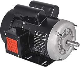 Mophorn 1.5HP Compressor Electric Motor, 3450rpm Reversible Single Phase 56C Frame Air Compressor Motor 5/8