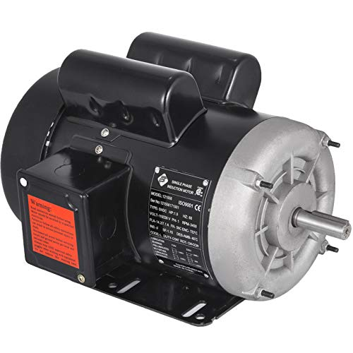 Mophorn 1.5HP Electric AC Motor, 3450rpm Reversible Single Phase 56 Frame Air Compressor Motor 5/8' Shaft Diameter Electric Motor for Air Compressor General Equipment, 115/230VAC