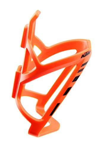 KTM Fahrrad Flaschenhalter mit Logo. Trinkflaschenhalter Getränkehalter Halter Orange - Schwarz ( 4887201 - 4888910 ) )