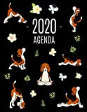 Perros de Yoga Agenda 2020: Planificador Mensual que Inspira Productividad | Con Calendario Mensual 2020