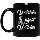 Tazza da caffè in ceramica, con scritta 'World's Best Welder', regalo di Natale, regalo per saldatore, divertente tazza di saldatura, lavori in metallo, per Pasqua, regalo di Natale, 311,8 ml