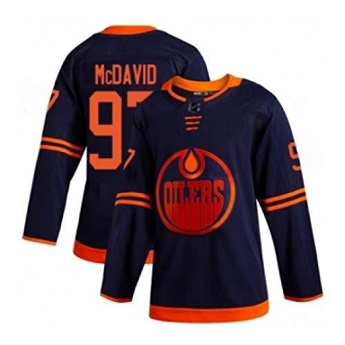 WXHJGY Eishockey Trikots Herren Langarm # 74 Bär 99 Gretzky 97 McDavid Sweatshirts Langarm T-Shirt Atmungsaktive Kleidung Top