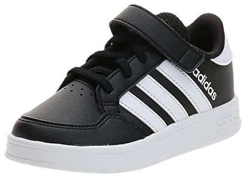 adidas BREAKNET C, Chaussures de Tennis Garçon Unisex Kinder, NEGBÁS FTWBLA NEGBÁS, 30 EU