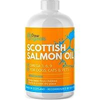Paw Origins 100% Natural, Pures Escocés lachsöl líquido ☆ Omega 3, 6 & 9 Nutrición Complemento para perros, gatos, caballo & mascotas ☆ favorece de piel, 500ml
