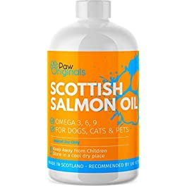 Salmon Oil For Dogs, Cats, Ferrets, Horses & Pets | 100% Pure Scottish | Natural Omega 3, 6, 9 Supplement | Coast, Skin , Joint & Brain Health | As Seen On TV