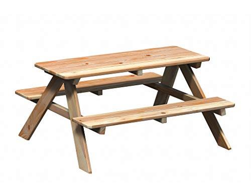 WINNETOO Kindersitzgruppe/Picknicktisch Lärche 119x115x61cm