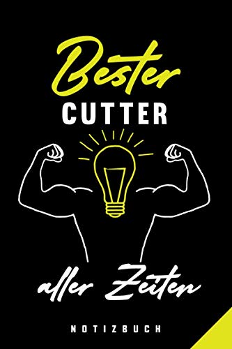 Bester Cutter Aller Zeiten Notizbuch: 120 Seiten Punkteraster Dotted Notizheft für die Arbeit Oder Studium Ausbildung (6x9) Ca. A5 Format Softcover Schwarz