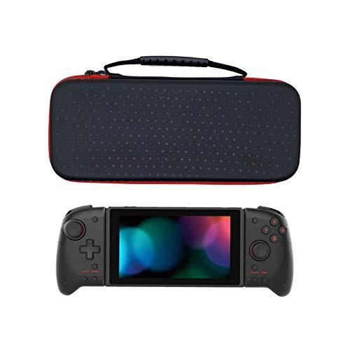Nintendo Switch グリップコントローラー ケース, URUON 収納ケース ホリ グリップコントローラー専用 ハードケース Nintendo Switch対応 ゲーム10枚収納 耐衝撃 撥水表面 ボタン保護 スイッチ HORI 携帯モード キャリングケース 持ち手付き