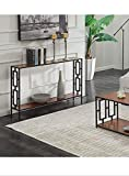 KR Woods Console Entry Table for Entryway Hallway Sofa - Storage Shelf - Black and Wood - Made in India