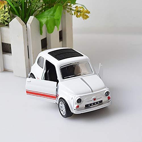 Lukame✯ 1:32 Zurück Legierung Auto Spielzeug Käfer Auto Retro Oldtimer Auto Ornamente (Weiß)