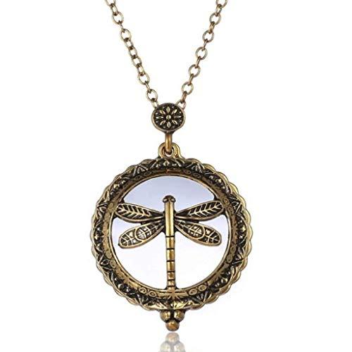 LKYBOA Mode Vergrößerungsglas, Halskette Personality Vergrößerungsglas-Anhänger, Alloy Glass