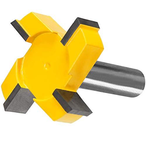 Broca de fresadora para superficies de tableros de madera, aplanadora de planchas, herramienta para cepillado de madera de 1,27 cm, mango duradero con punta de carburo