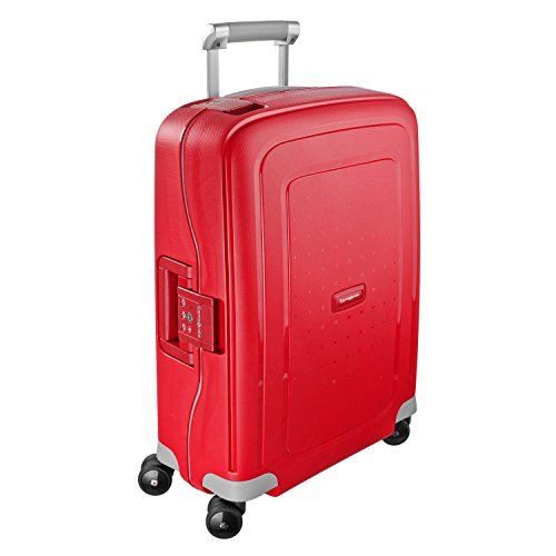 Samsonite S'Cure Hardside Luggage with Spinner Wheels, Crimson Red, Checked-Large 30-Inch