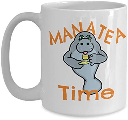 Manatee Tea Cup Put Your Mana Tea Infuser with Loose Leafs in our 11oz or 15oz Ceramic Mug and product image