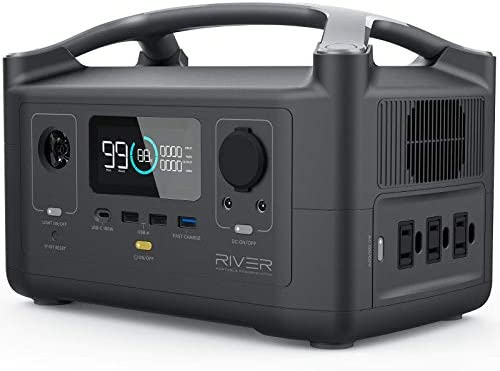 EF ECOFLOW Portable Power Station RIVER 600 288Wh Backup Lithium Battery with 3 600W Peak 1200W product image