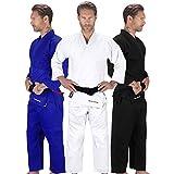 Elite Sports Adult Judo GI Uniform Double Weave IJF Approved Judo Suit Kimono GIS (White, 3)
