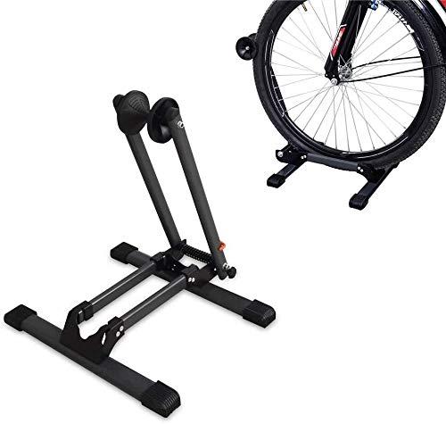 Opvouwbaar Alloy Fietsenstalling Stand Bike Vloer Parkeren Rack Wheel Holder Fit 20-29 Inch Bikes Binnen Thuis Garage Met behulp dmqpp