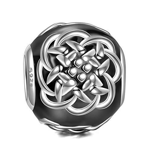 NINAQUEEN Charm Pandora Noir Cadeau Femme Argent 925 Émail Cadeaux pour Femme