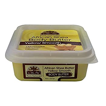 OKAY Shea Butter Yellow Smooth Deep Moisturizing Lotion 8 Ounce
