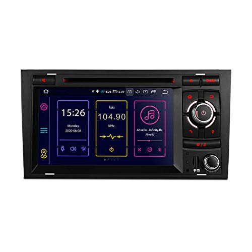 7 Android 10 Estéreo para automóvil Qualcomm Bluetooth 4G + 64G Navegación GPS de 8 núcleos Radio para automóvil Reproductor de DVD Soporte WiFi 4G TPMS OBD2 DVR DAB + CarAutoPlay Cámara para A4 S4 B