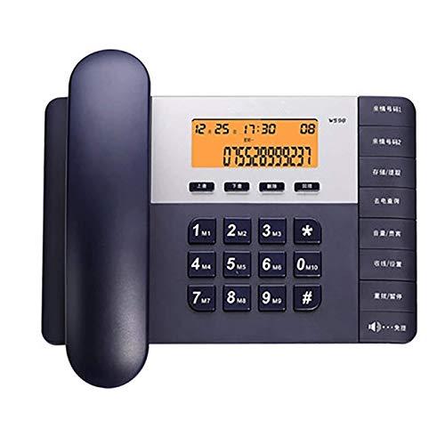 Teléfonos con Cable, teléfono con Botones Grandes, teléfonos fijos con Cable телефон con Altavoz Teléfono Fijo Identificador de Llamadas Volumen Ajustable y Brillo LCD Reloj para Negocios en casa Hot