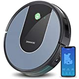 Robot Vacuum and Mop, Deenkee Cleaning Robot Works with Wi-Fi and Alexa,Super Suction, Super Thin 120 Mins Runtime Robotic Vacuum Cleaner with Smart Navigation for Pet Hair