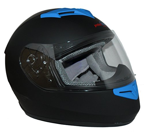 Protectwear Motorradhelm V121-BL schwarz-blau matt - M