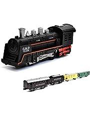 HSP Himoto Ferrocarril eléctrico de Navidad Santa Claus Starter Set tren, vapor, simulación de sonido, maqueta de locomotora, juego completo, incluye accesorios