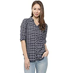 Campus Sutra Women Checkered Casual Spread Shirt