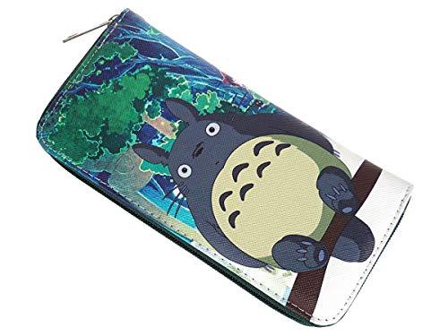 CoolChange Langes Totoro Portmonee mit Kleingeldfach, Reißverschluss Geldbörse, Manga Portemonnaie Design: A, Grün