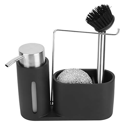 Fregadero de la cocina Vajilla Dispensador de detergente Contenedor Plato Paño Rag Almacenamiento Rack