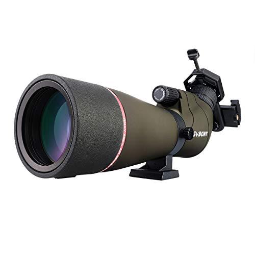 Svbony SV13 Telescopio Terrestre 20-60x65 Portátil Compacto Potente Monocular HD Impermeable Antiniebla Spotting Scope con Adaptador Móvil para Ornitología Tiro al Arco Paisaje de Vida Silvestre