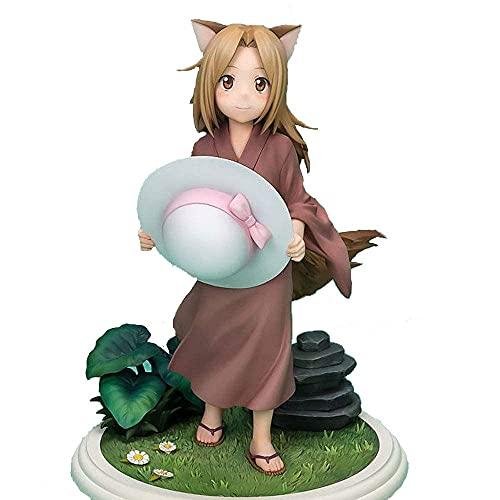 Yuxunqin Natsume's Libro de Amigos Niño Fox Little Fox Demon Sombrero 1/7 Modelo Hecho a Mano Decoración de muñecas